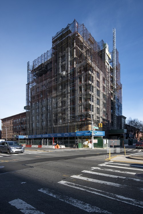 Façade Installation Underway At 11-Story Baltic Park Slope At 613 Baltic Street